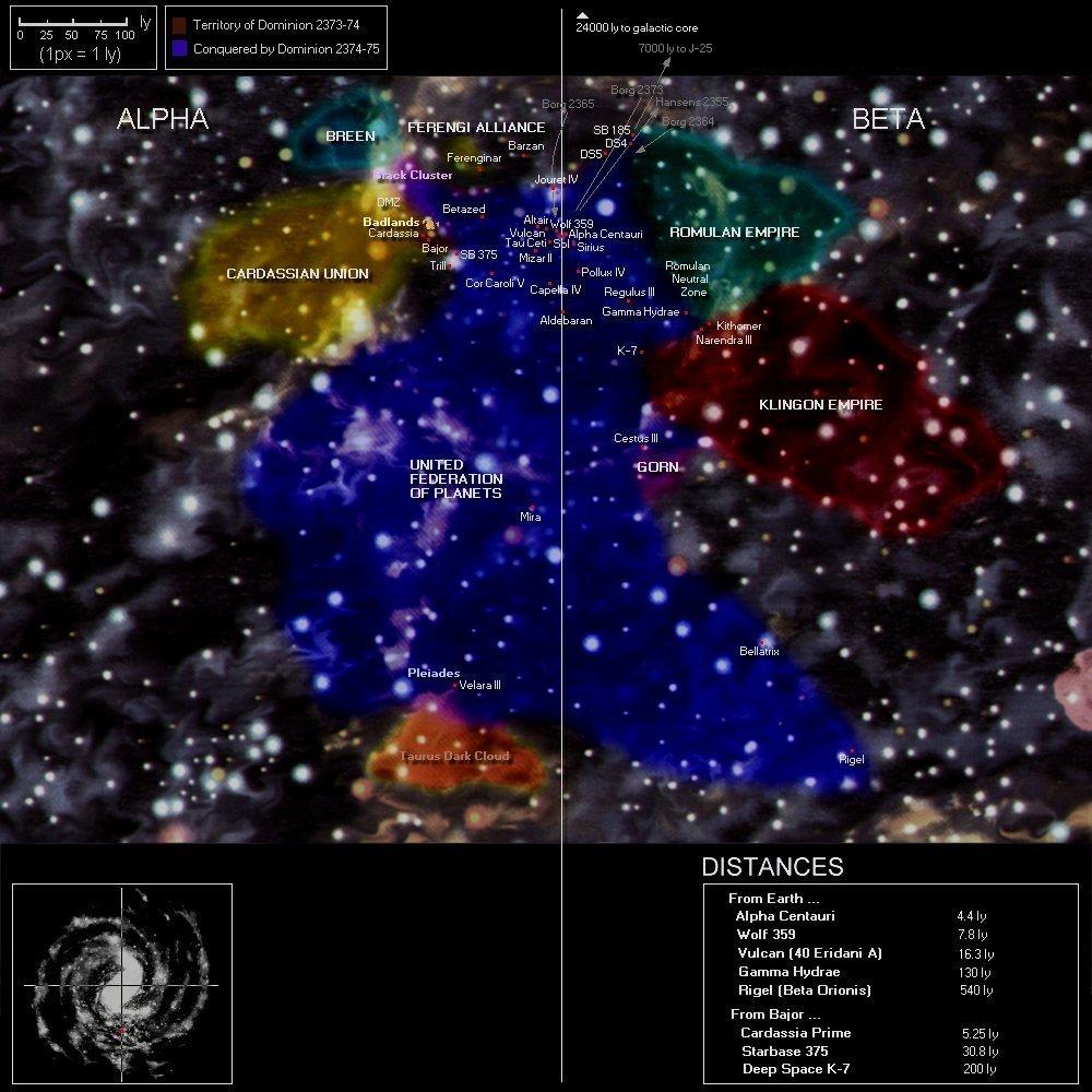 star trek karte Star Trek   Karte des erforschten Raums
